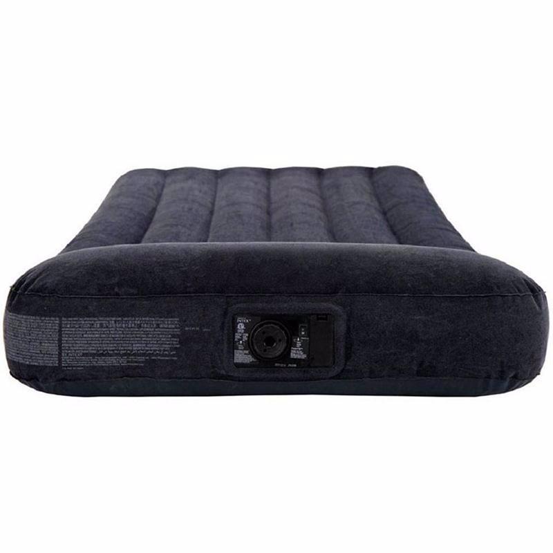 Односпальный надувной матрас Intex 66779 (99х 191 x 23 см) Pillow Rest + Встроенный электронасос 220В