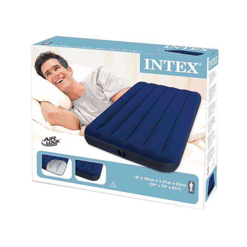 Односпальный надувной матрас Intex 68757 (99 х 191 x 22 см) Classic Downy