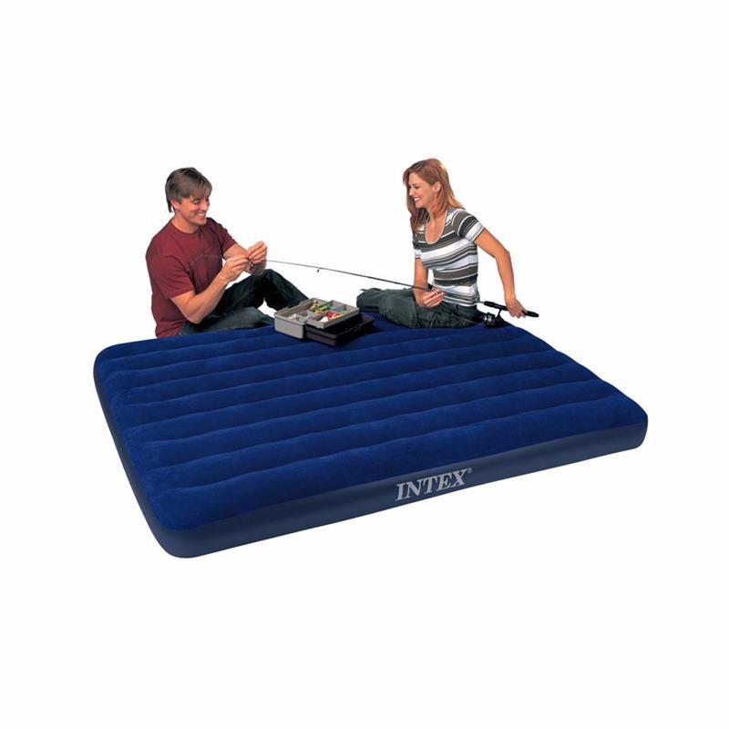 Двуспальный надувной матрас Intex 68759 (152 х 203 x 22 см) Classic Downy