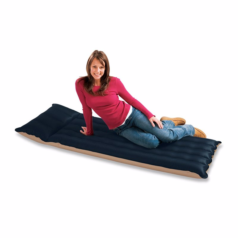 Односпальный кемпинговый надувной матрас Intex 68797 (67 x 184 х 17 см) Camping