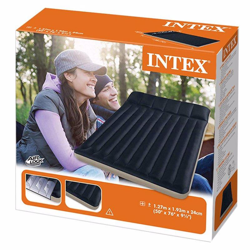 Полутороспальный кемпинговый надувной матрас Intex 68799 (127 х 193 х 24 см) Camping
