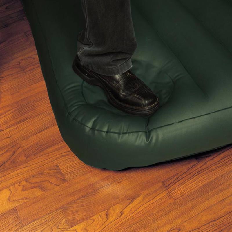 Односпальный надувной матрас Intex 66927 (99 х 191 x 22 см) Downy + Встроенный ножной насос
