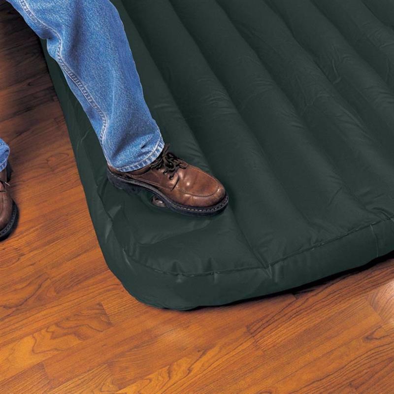 Полутороспальный надувной матрас Intex 66928 (137 х 191 x 22 см) Downy + Встроенный ножной насос