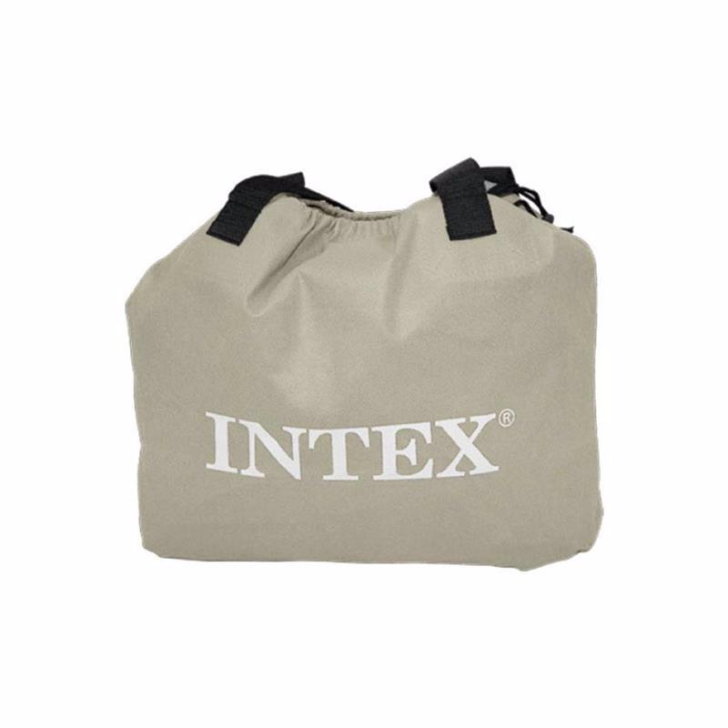 Двуспальная надувная кровать Intex 64136 (152 x 203 x 42 см) Deluxe Pillow Rest + Встроенный электронасос 220В
