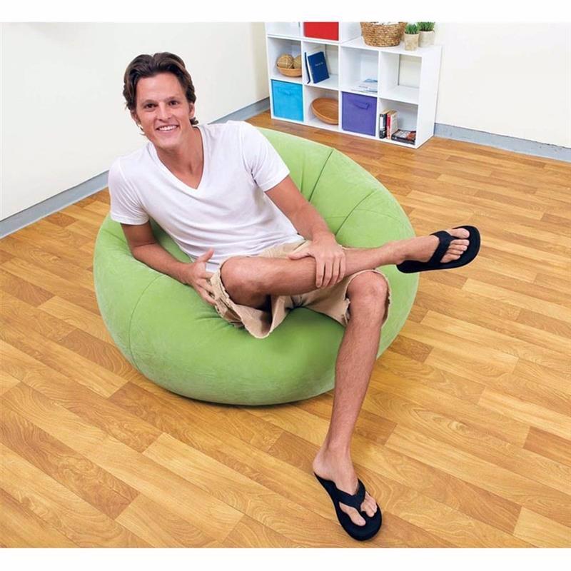 Надувное кресло Intex 68569 Салатовый (107x104x69 см) Beanless Bag Chair