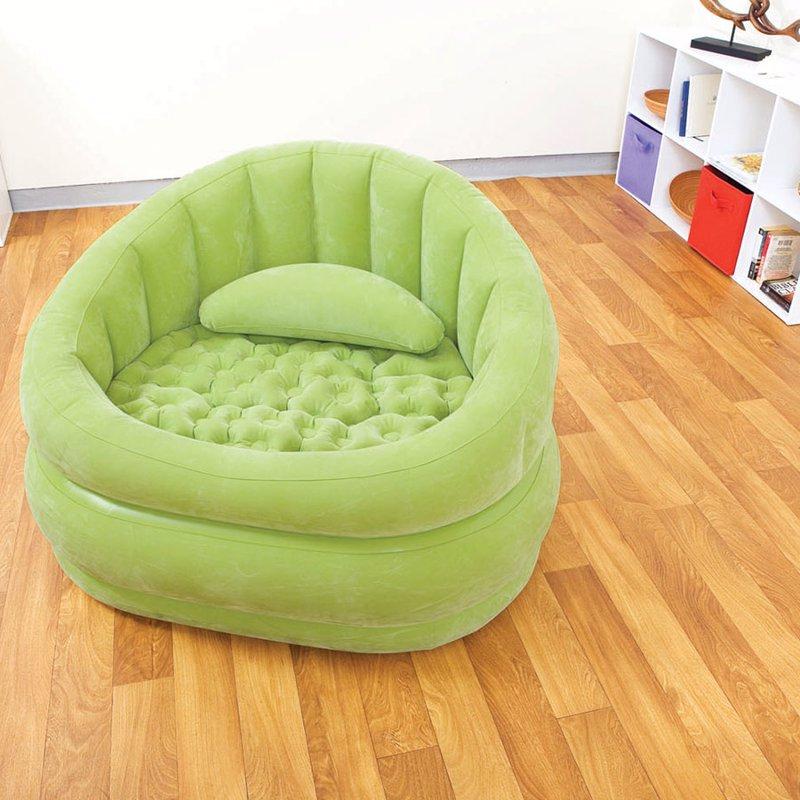 Надувное кресло Intex 68563 (91 x 102 x 65 см) Cafe Chair (Салатовый)
