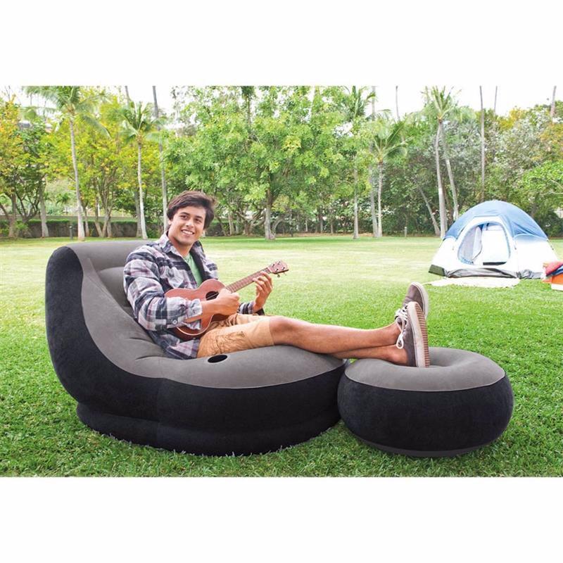 Надувное кресло Intex 68564 (99 x 130 x 76 см) Ultra Lounge (С пуфиком)