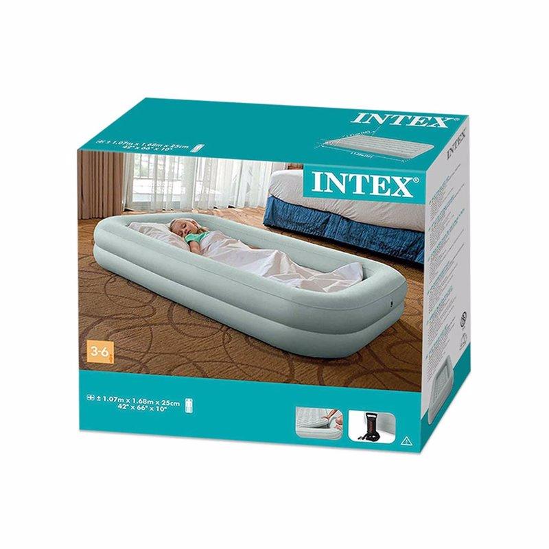 Детский надувной матрас Intex 66810 (107 x 168 x 25 см) Kidz Travel + Ручной насос