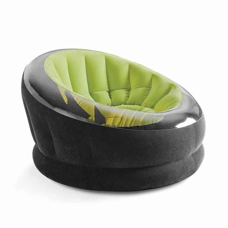 Надувное кресло Intex 68582 (112 x 109 x 69 см) Empire Chair (Салатовый)