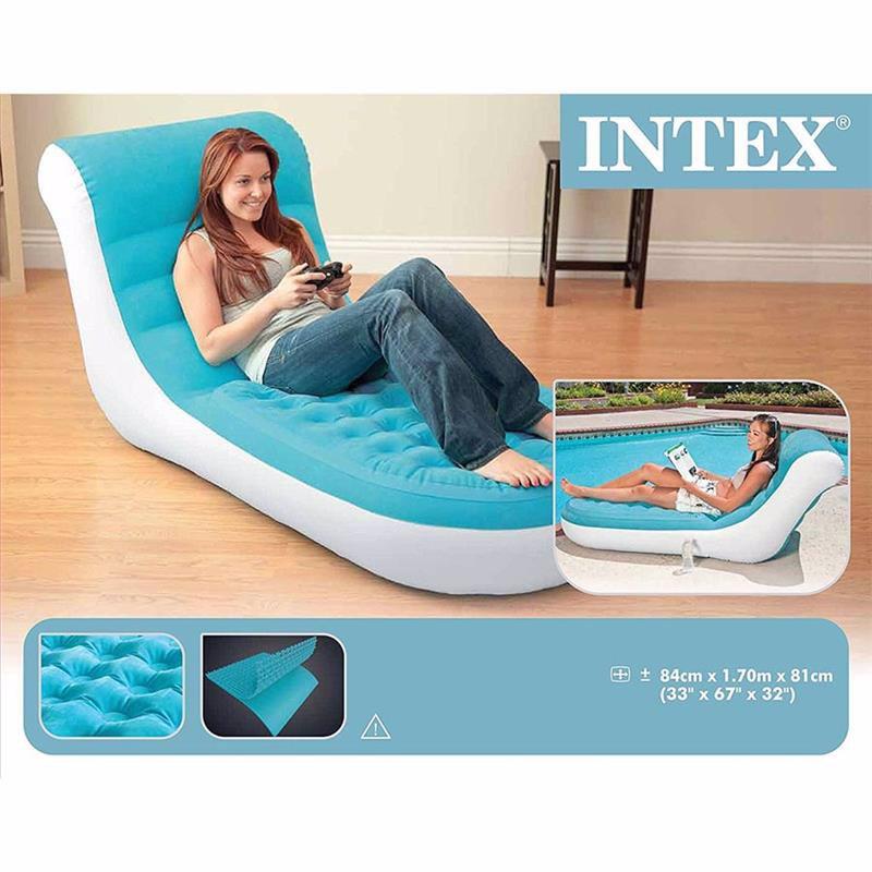 Надувное кресло Intex 68880 (84 x 170 x 81 см) Splash Lounge