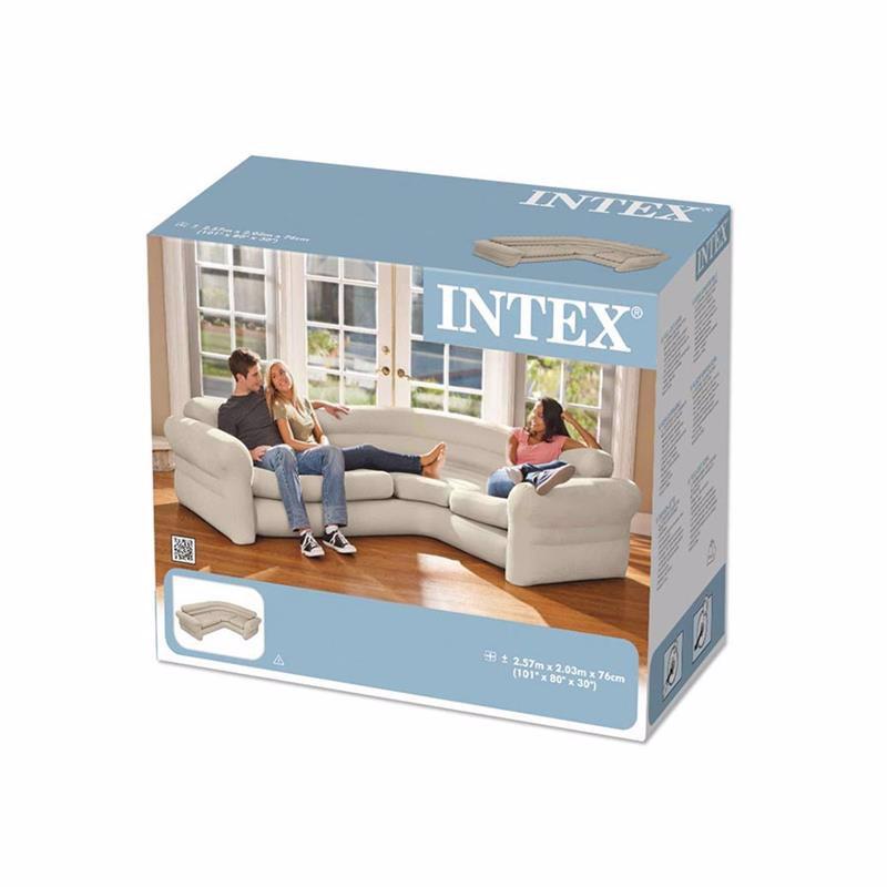 Угловой надувной диван Intex 68575 (257 x 203 x 76 см) Corner Sofa