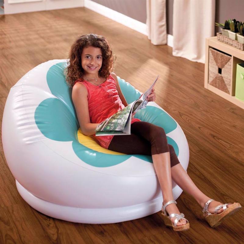 Детское надувное кресло Intex 68574 (102 x 99 x 64 см) Blossom Chair (Зеленый)