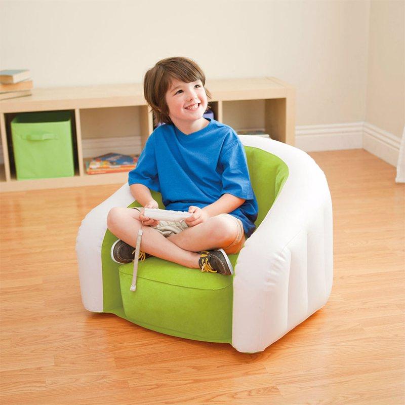 Детское надувное кресло Intex 68597 (69 x 56 x 48 см) Jr. Cafe Club (Салатовый)