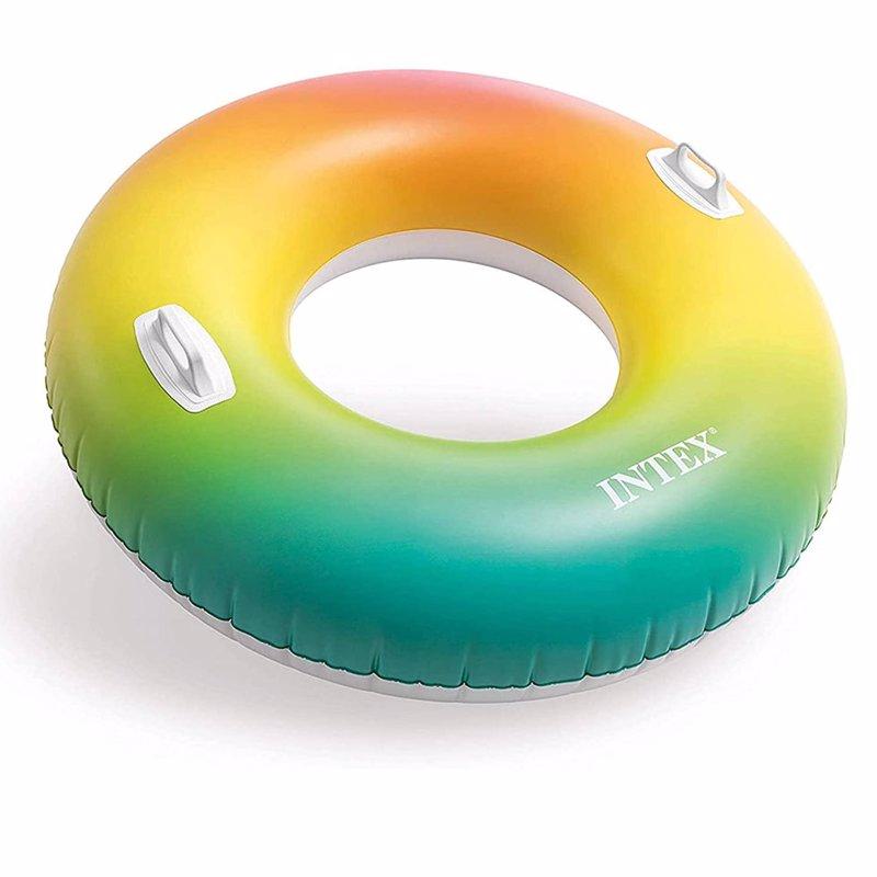"""Надувной круг с ручками Intex 58202 """"Вихрь цвета"""" Color Whirl Tube (122 см)"""