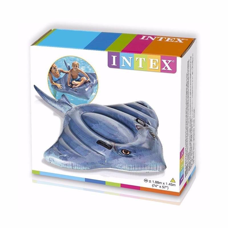 """Детский надувной плотик Intex 57550 """"Скат"""" (188х145 см) Stingray Ride-On"""