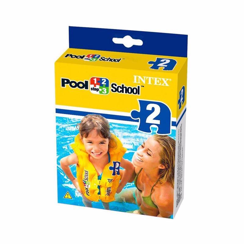 Детский надувной жилет Intex 58660 Deluxe Swim Vest Pool School Step 2