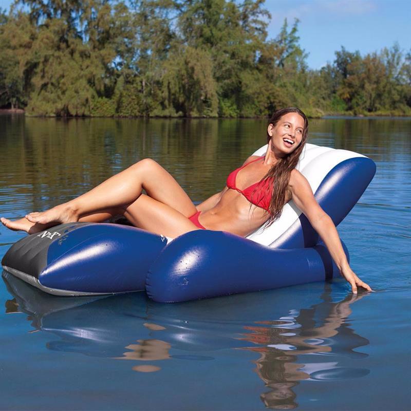 Пляжное надувное кресло Intex 58868 Floating Recliner Lounge (180х135 см)