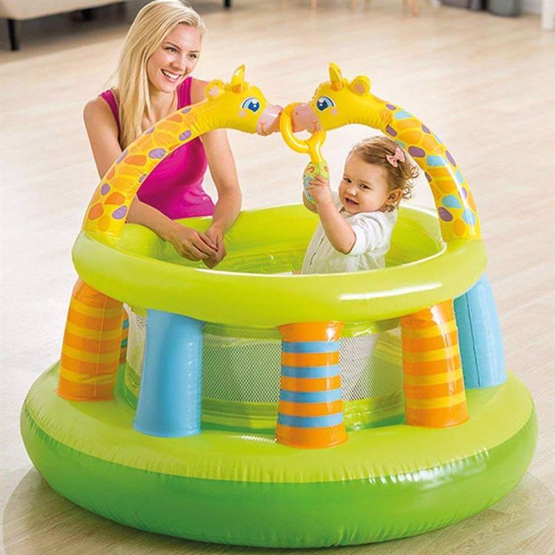 Детский надувной гимнастический центр-манеж Intex 48474 (130 x 104 см)