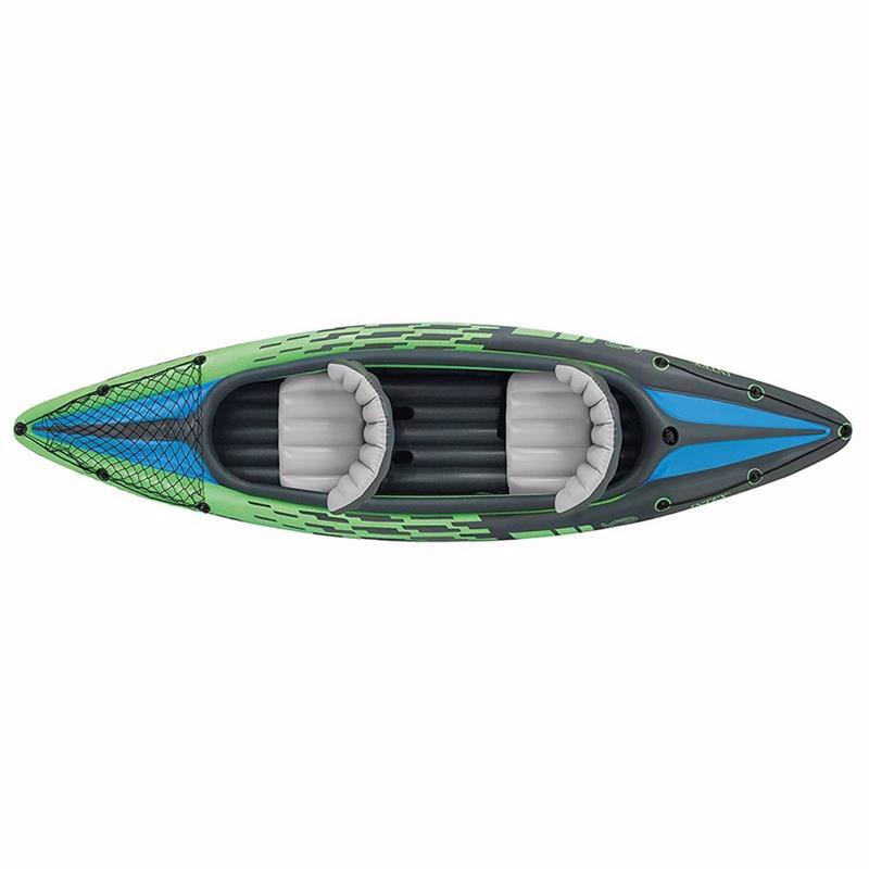 Двухместная надувная байдарка Intex 68306 (351 x 76 x 38 см) Challenger K2 + Алюминиевые весла и ручной насос