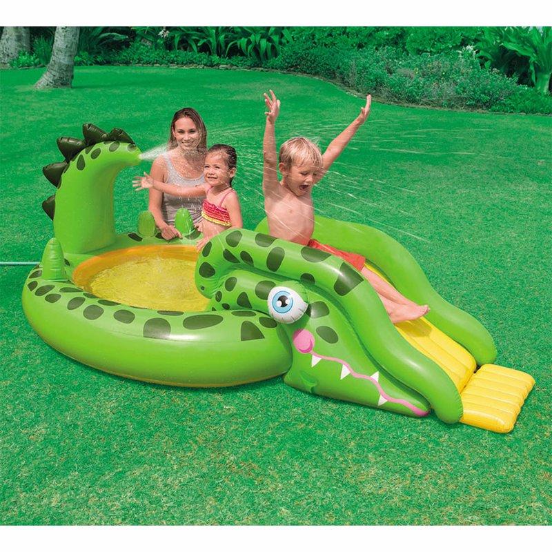 Водный надувной игровой центр Intex 57132 (251 x 140 x 86 см) Крокодил