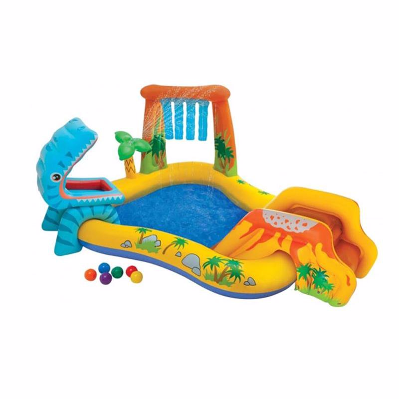 Водный надувной игровой центр Intex 57444 (249 x 191 x 109 см) Динозавр