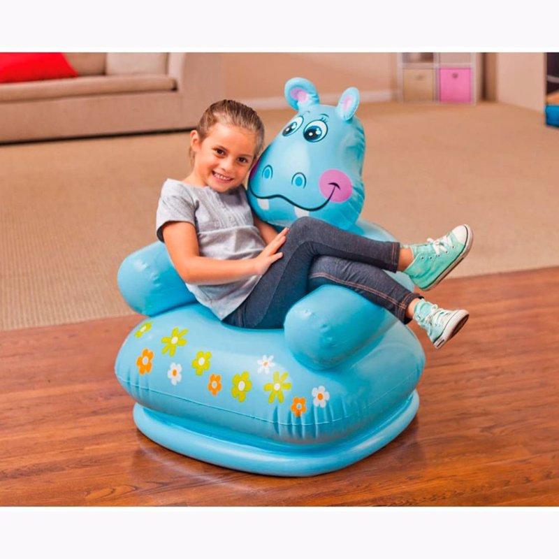 Детское надувное кресло Intex 68556 (65 х 64 х 74 см) Бегемот