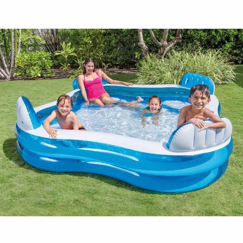 Семейный надувной бассейн Intex 56475 Swim Center Family Lounge Pool (229х229х66 см)
