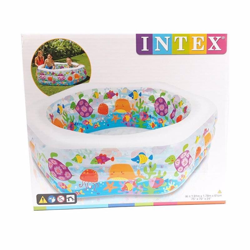 Детский надувной бассейн Intex 56493 Ocean Reef Pool (191х178х61 см)