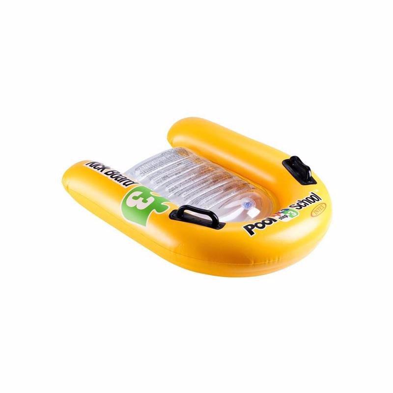 Детский надувной плотик Intex 58167 с ручками (79x76 см) Kickboard Pool School Step 3