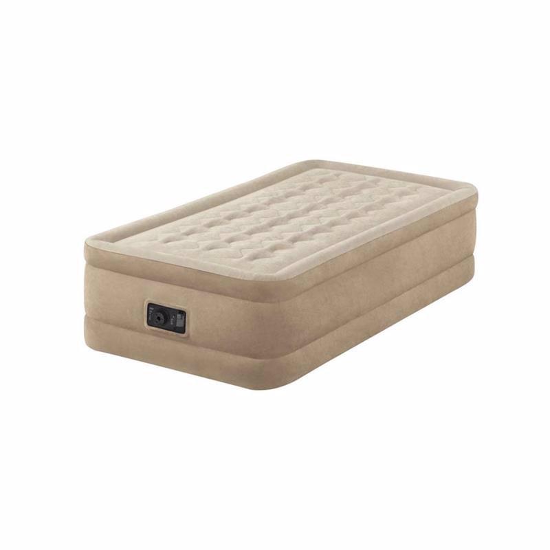 Односпальная надувная кровать Intex 64456 (99 x 191 x 46 см) Ultra Plush + Встроенный электронасос 220В