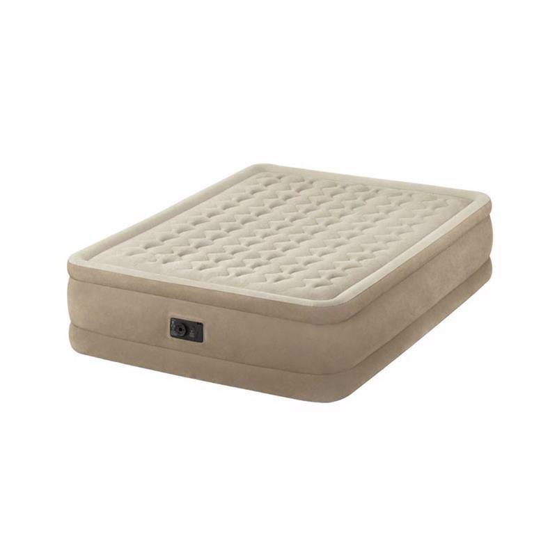 Двуспальная надувная кровать Intex 64458 (152 х 203 x 46 см) Ultra Plush + Встроенный электронасос 220В