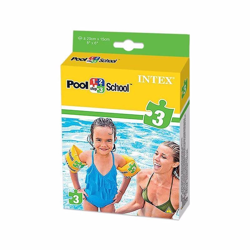 Детские надувные нарукавники Intex 56643 Roll-Up Arm Bands Pool School Step 3 (20x15 см)