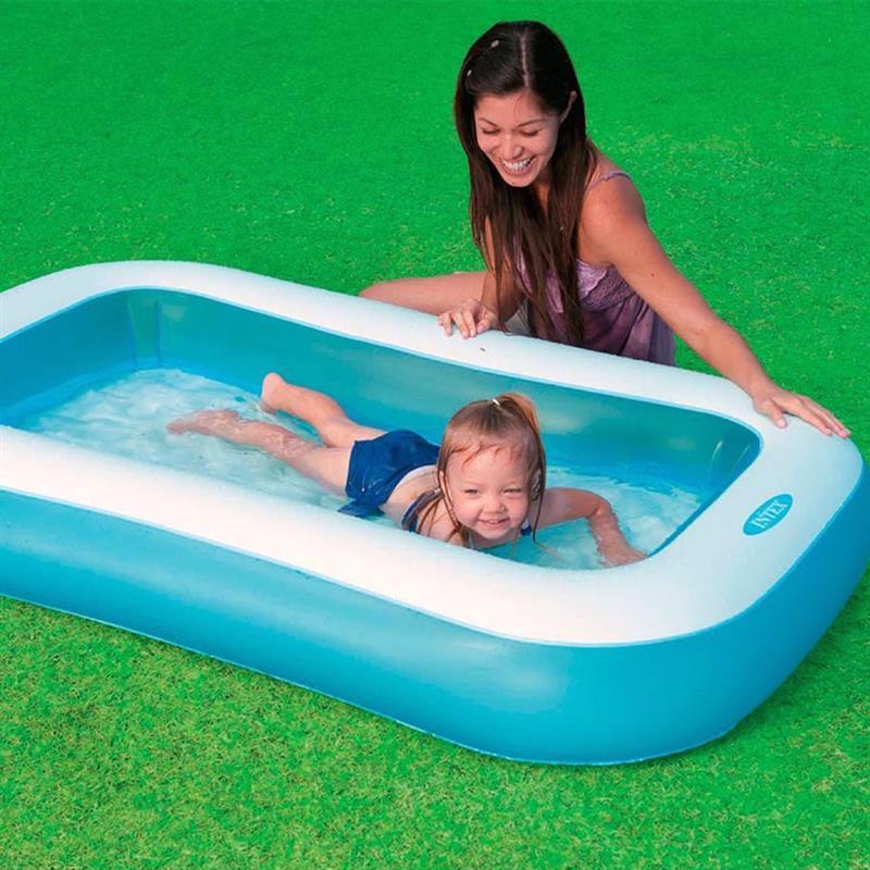 Детский надувной бассейн Intex 57403 Rectangular Pool (166х100х28 см)