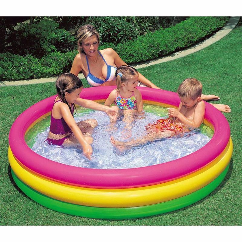 Детский надувной бассейн Intex 57422 Sunset Glow Pool (147х33 см)