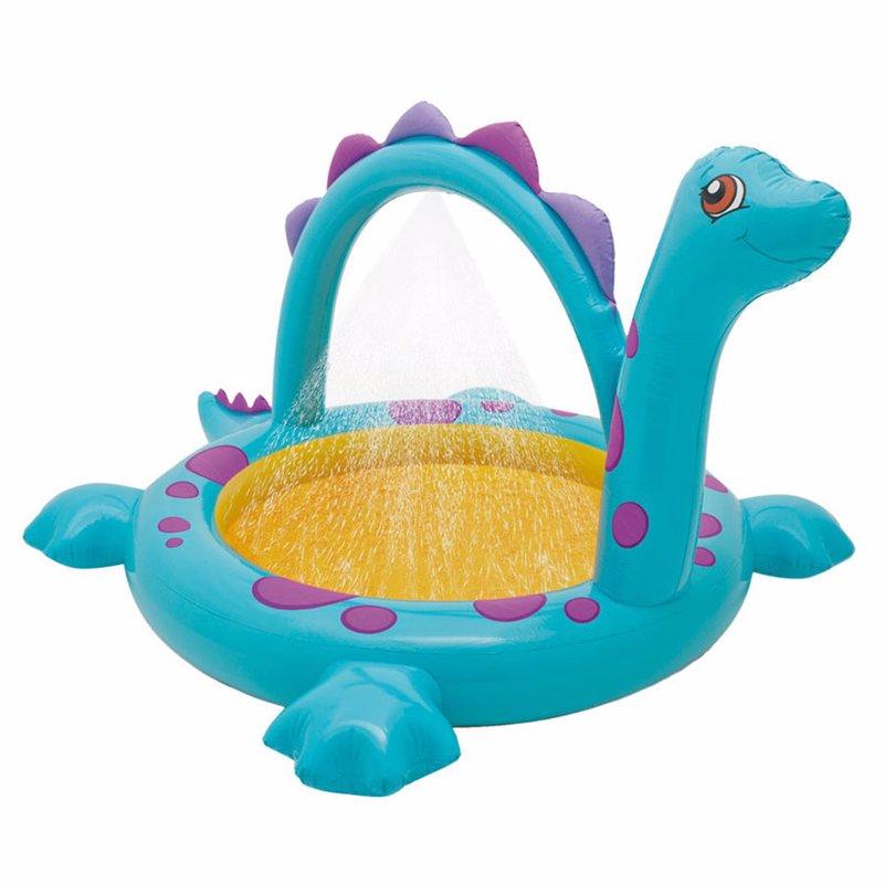 "Детский надувной бассейн Intex 57437 ""Динозаврик"" Dino Spray Pool (229х165х117 см)"