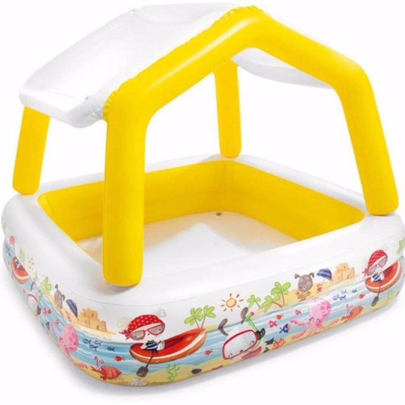 Детский надувной бассейн Intex 57470 со съемной крышей Sun Shade Pool (157х157х122 см)