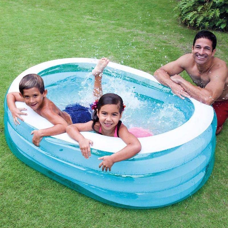 "Детский надувной бассейн Intex 57482 ""Нежность"" Oval Whale Fun Pool (163х107х46 см)"