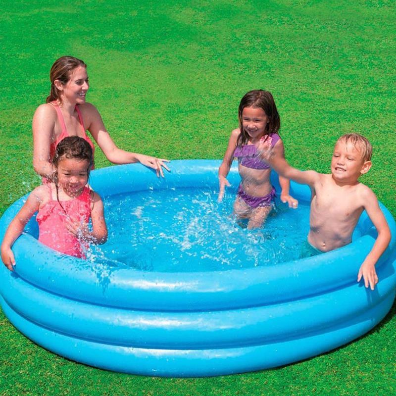 Детский надувной бассейн Intex 58446 Crystal Blue Pool (168х38 см)