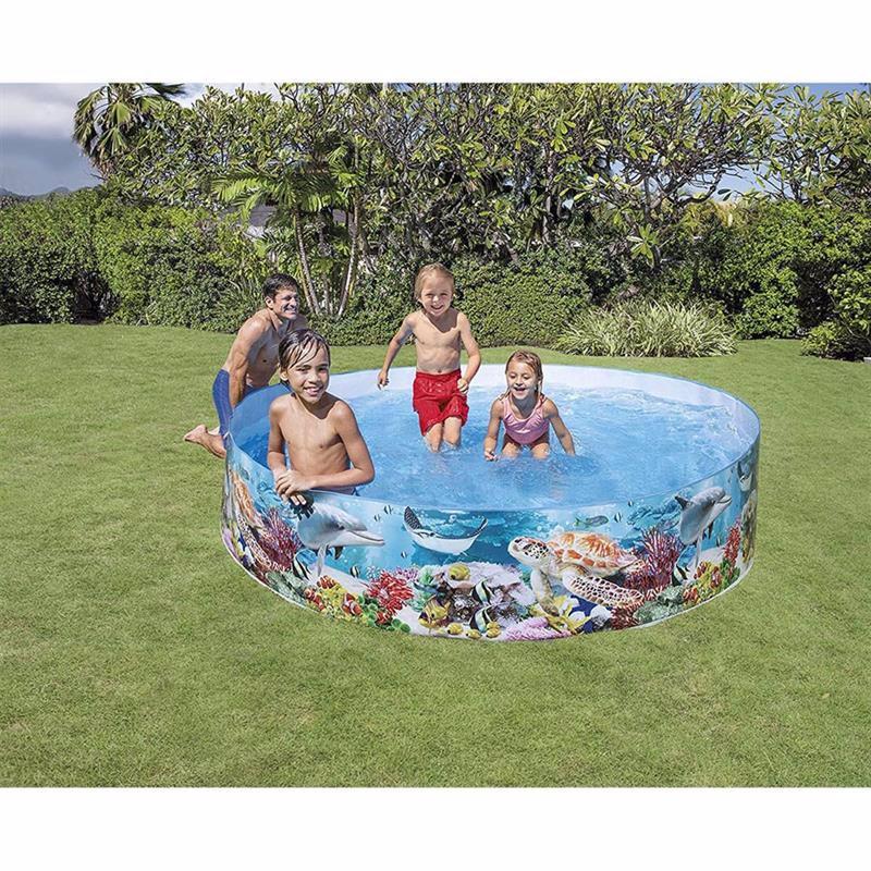 Семейный каркасный бассейн Intex 58472 Coral Reef Snapset Pool (244х46 см)