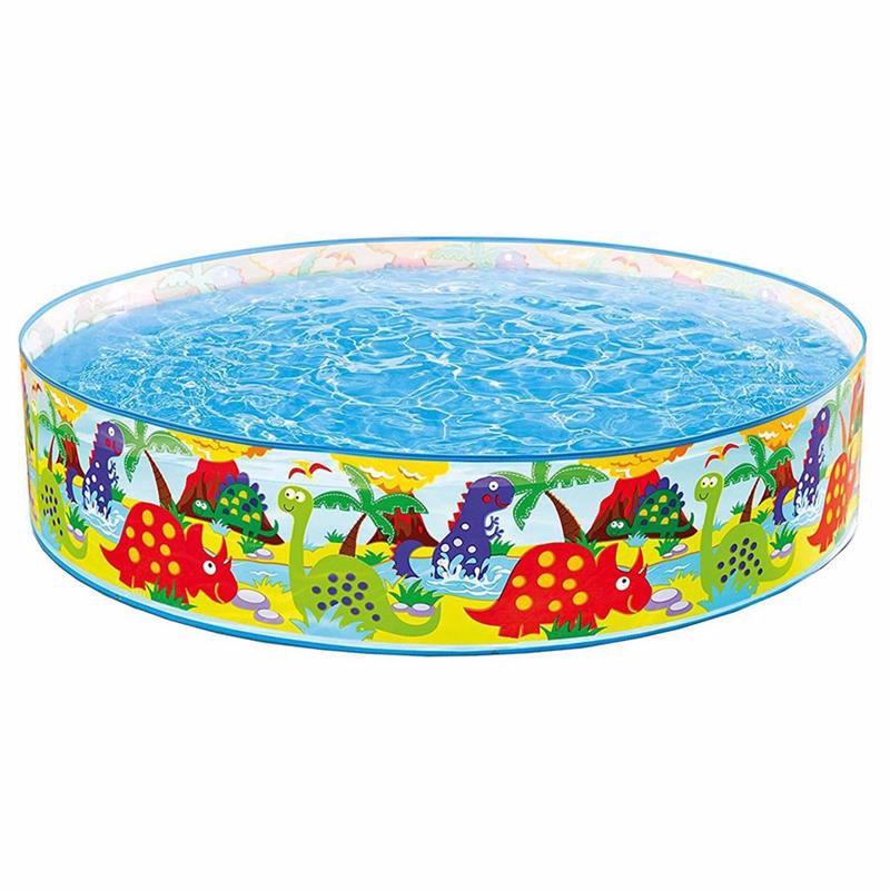 Детский каркасный бассейн Intex 58474 Happy Animals Clearview Snapset Pool (122х25 см)