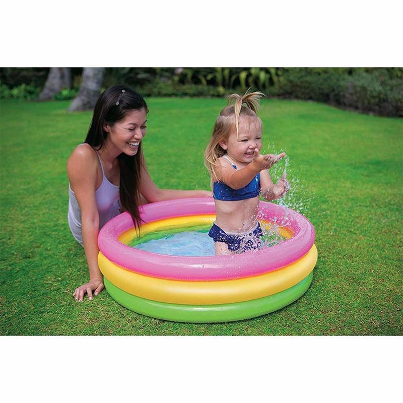 Детский надувной бассейн Intex 58924 Sunset Glow Baby Pool (86х25 см)