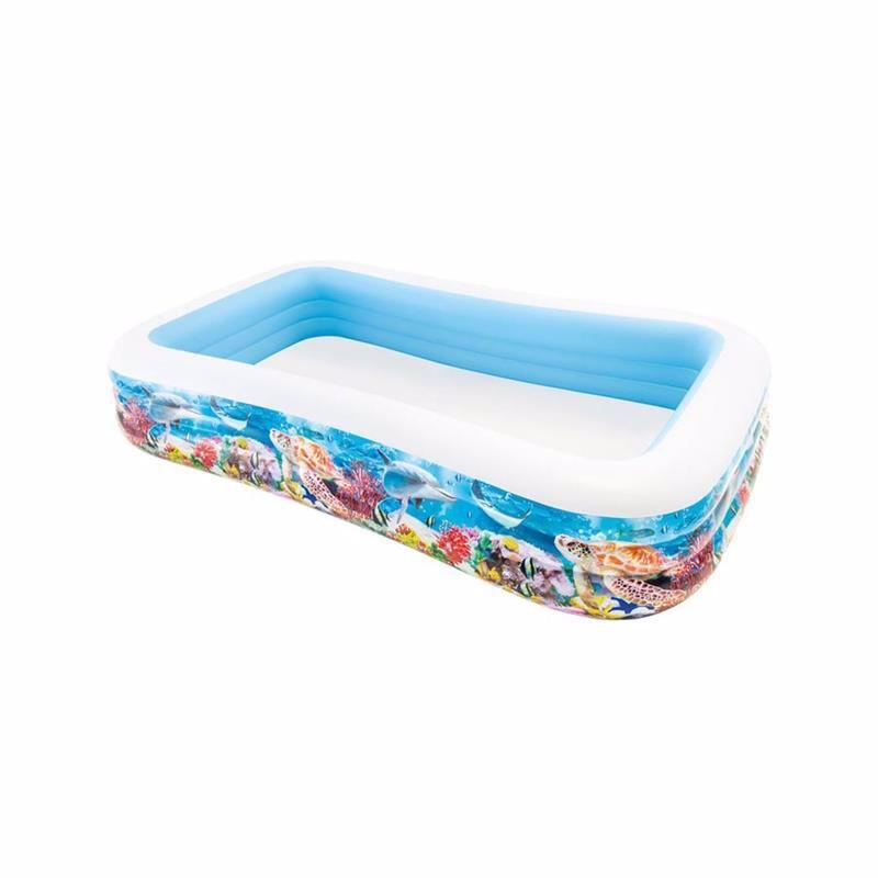 Семейный надувной бассейн Intex 58485 Swim Center Tropical Reef Family Pool (305х183х56 см)