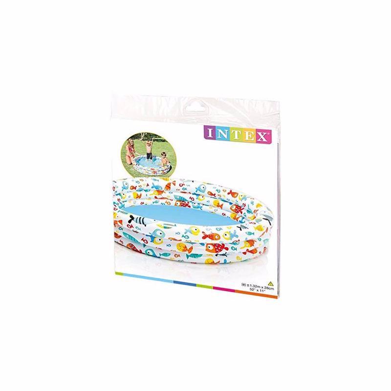 Детский надувной бассейн Intex 59431 Fishbowl Pool (132х28 см)