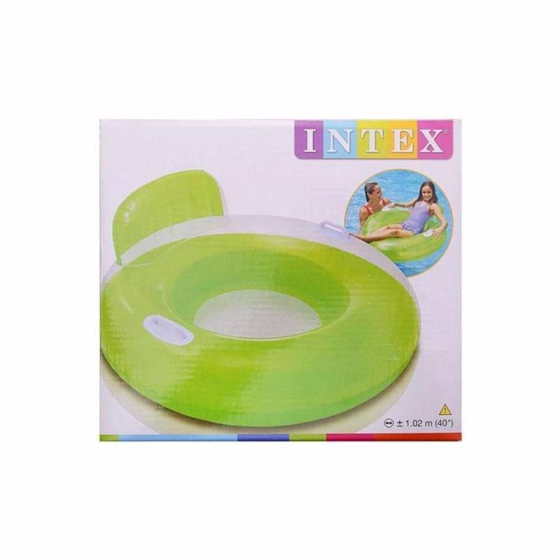 Надувной круг Intex 56512 с ручками Candy Color Lounges (102 см) Салатовый