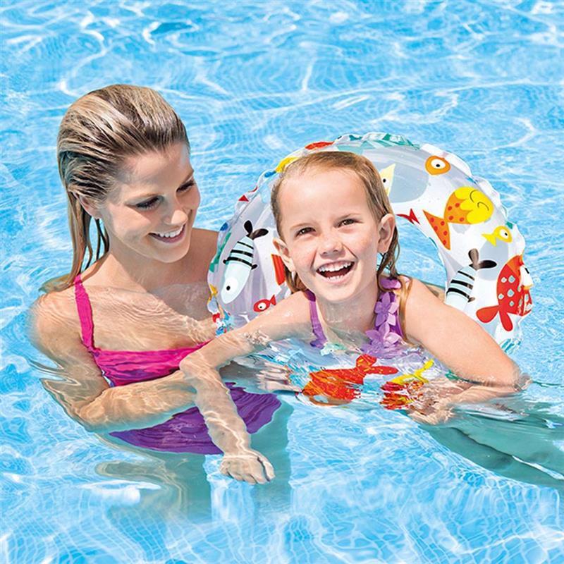 Детский надувной круг Intex 59241 (Рыбки) Lively Print Swim Rings (61 см)