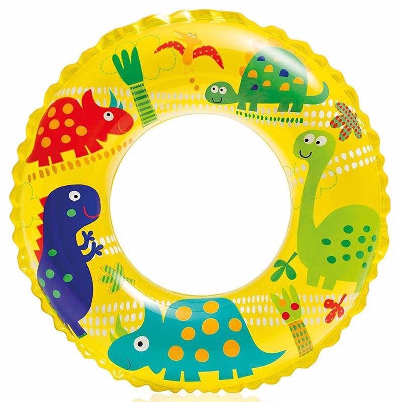 Детский надувной круг Intex 59242 (Желтый) Ocean Reef Transparent Rings (61 см)