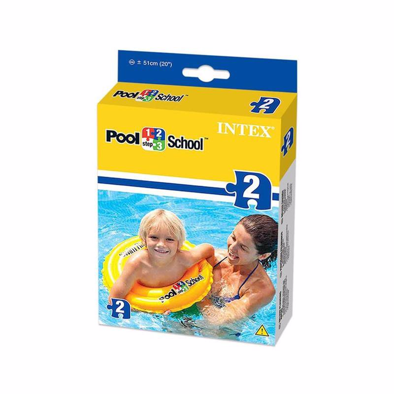 Детский надувной круг Intex 58231 Deluxe Swim Ring Pool School Step 2 (51 см)