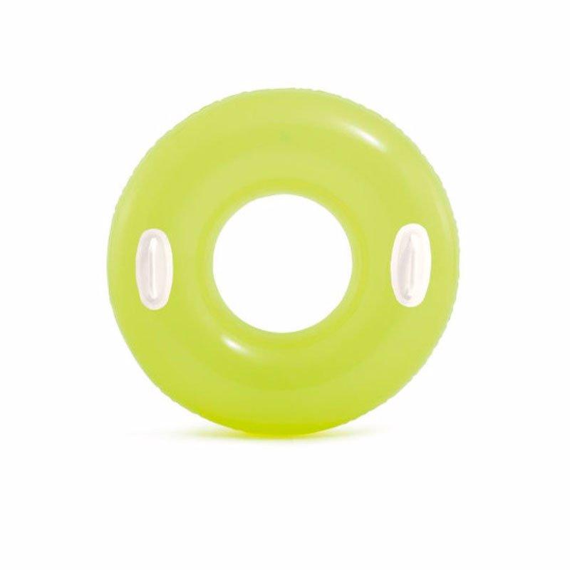 Надувной круг Intex 59258 с ручками (Салатовый) Hi-Gloss Tubes (76 см)