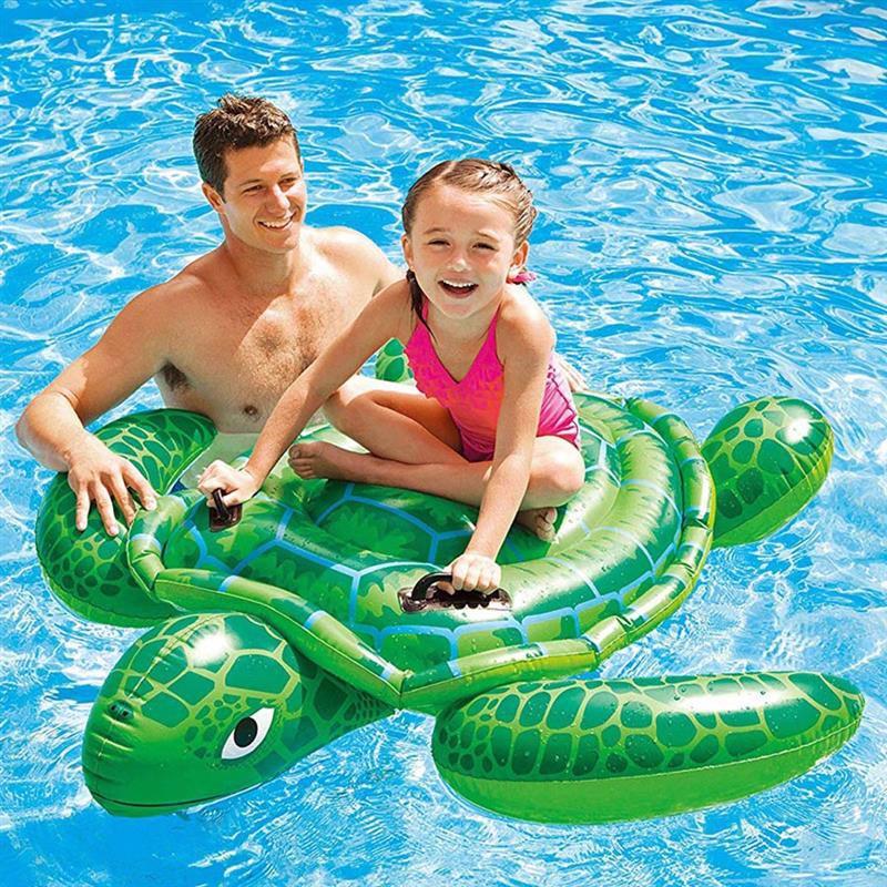 "Детский надувной плотик Intex 57524 ""Черепаха"" (150х127 см) Lil' Sea Turtle Ride-On"