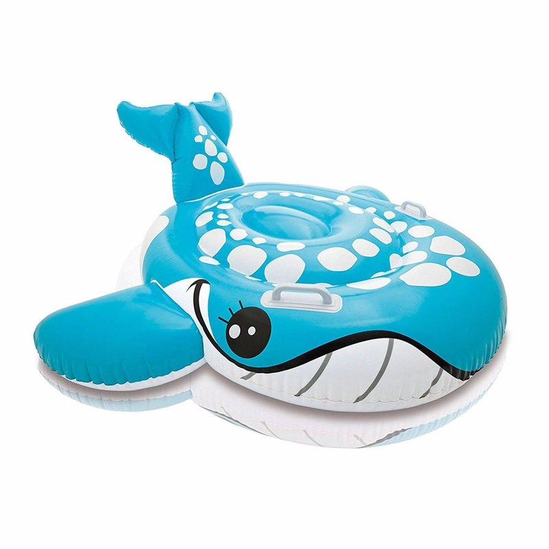"Детский надувной плотик Intex 57527 ""Кит"" (160х152 см) Bashful Blue Whale Ride-On"